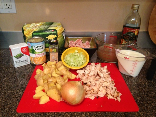 Chicken corn chowder ingredients