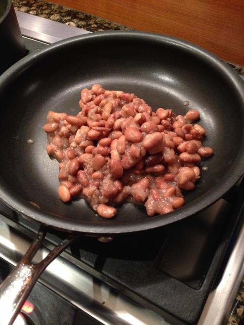 Pre-fried beans.
