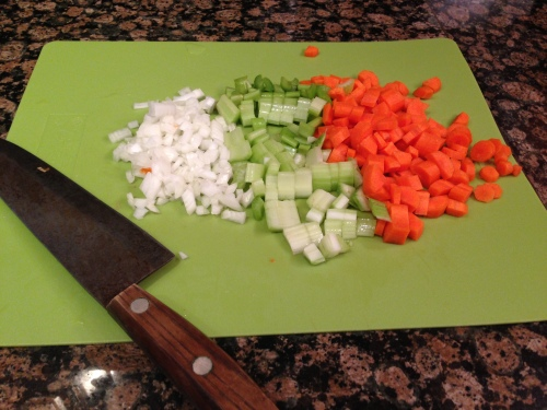 """In French, this is called """"mirepoix."""""""