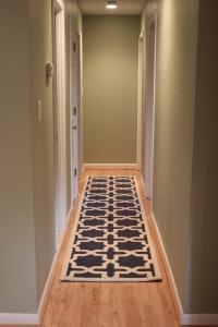 Navy blue runner for the hallway