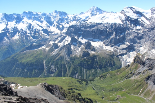 View from Piz Gloria on top of Schilthorn.
