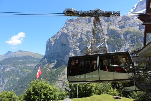 A lift, or cable car, in the Berner Oberland.